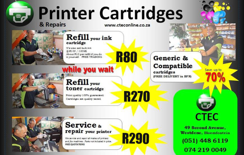 Printer Cartridge Refill, Repair & Service Deals