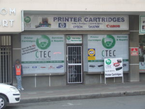 CTEC in Bloemfontein. Supplier of quality printer cartridges