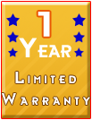 1 year limited warranty on compatible toners